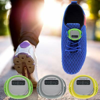 Waterproof Splash Proof LCD Step Counter Fitness Walking Shoes Lace Pedometer
