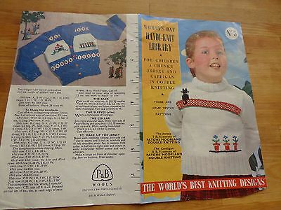 Vintage Knitting Pattern 1950s? 2 Fair Isle Knits for Kids, 1 + cat, 1+ soldiers