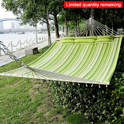 Outsunny Hammock Outdoor Garden 2 Person Double Camping Hanging Swing Travel