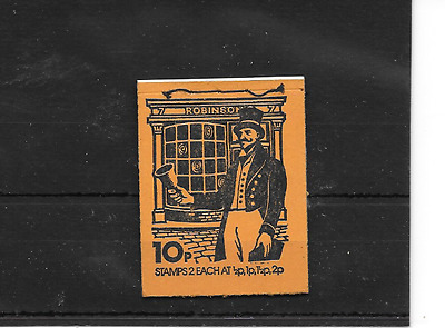GB 1974 August - Postal Uniforms #1 10p Stitched Stamp Booklet - DN67