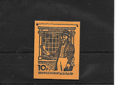 GB 1974 October - Postal Uniforms #1 10p Stitched Stamp Booklet - DN68