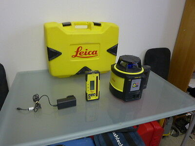 Leica Rugby 820 slope rotary laser level with RodEye 160 Digital receiver