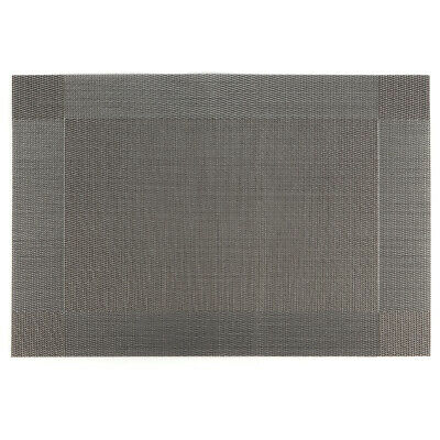 4 Manteles Individuales rectangular Gris con plata Vinyl Dining Table Place Mats