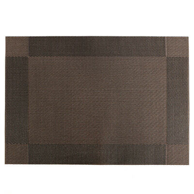 4 x Manteles Individuales rectangular Color Marrón Vinyl Dining Table Place Mats