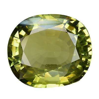3.060Cts Formidable Top Luster Color Change Green Natural Chrysoberyl Oval