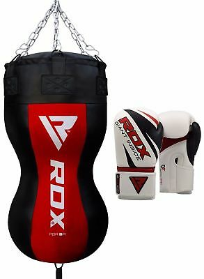 RDX Pesante Pieno Punch Bag Angolo Corpo Boxe Guanti Superior Tagliare MMA IT