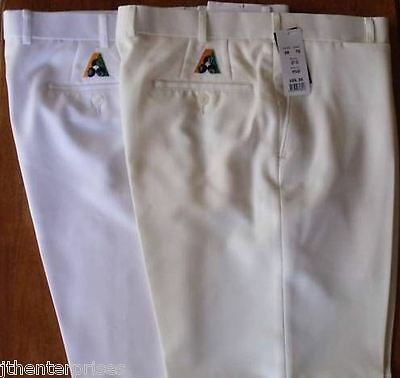 Fletcher Jones BA  Lawn Bowls Trousers Pants CREAM ONLY  $ 35-00   FREE POSTAGE