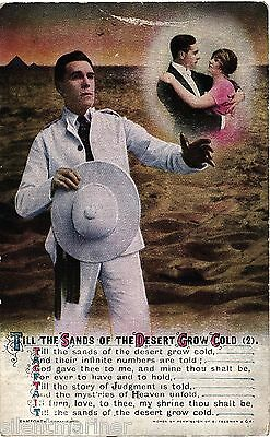 Bamforth song postcard, Till The Sands Of The Desert Grow Cold (2), unposted