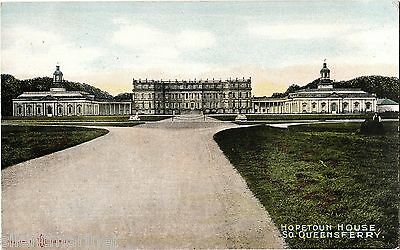 Hopetoun House, South Queensferry, old coloured postcard, unposted