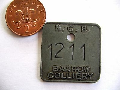 Ncb Barrow  Colliery Worsboro-Barnsley-Yorkshire Miners Pit Check Token Tally