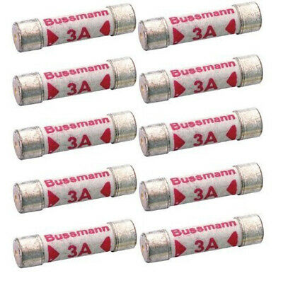 10 Pack 3 Amp Rated Replacement Household Fuse Set 240V Ac For Lights
