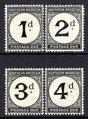 Northern Rhodesia 1929-52 Postage Due Set SGD1-D4 M/Mint