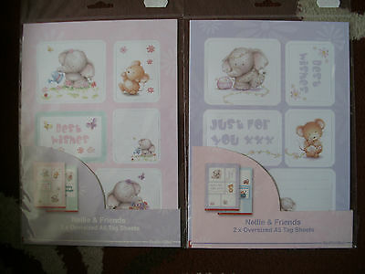 2 packs of Nellie and Friends oversized A5 tag sheets