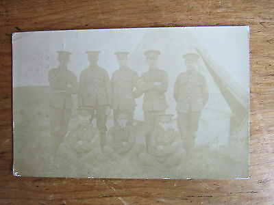 Very Old POSTCARD 1911 Sent from Military Camp Minehead Soldiers Very faded