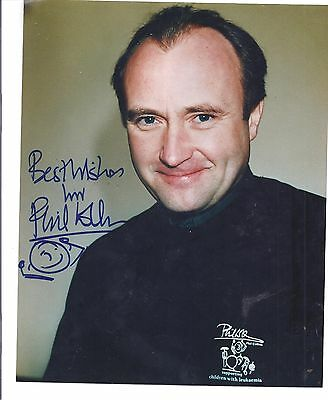 """PHIL COLLINS- """"In The Air Tonight""""- Singer, Songwriter & Actor-Signed 8X10 pic"""