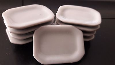 9 Dollhouse Miniatures Cookware & Tableware Handcrafted Ceramic Food Dishes C