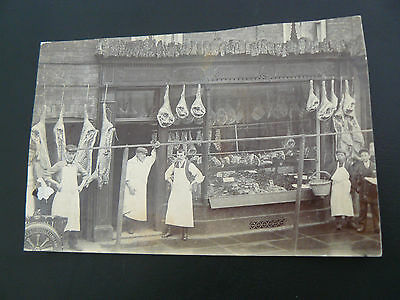 Postcard sized Photograph of Butcher Shop - from an Ipswich collection