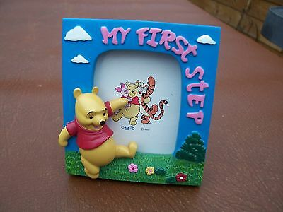 From Disney Small Ceramic Winnie The Pooh My First Step Photograph Frame