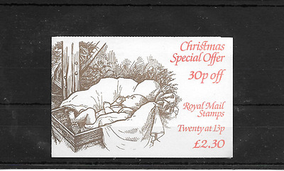 GB 1984 Christmas Folded £2.30 Booklet - FX 7 - Cyl Nos
