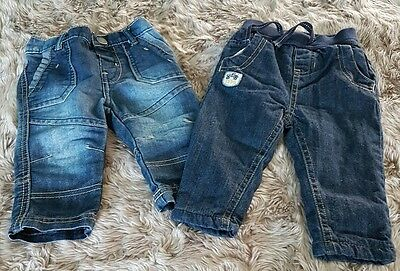 bundle of baby boy's jeans 2 pairs ge 3-6 months