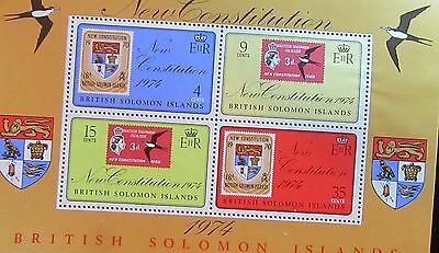 1974 Solomon Islands New Constitution  Mini Sheet .mint