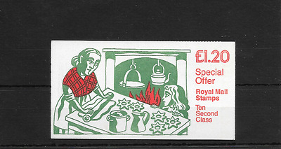 GB 1986 Christmas Folded £1.20 Booklet - FX 9B - Cyl No