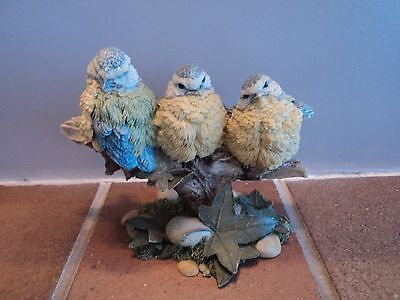 Vintage (Country Artists) Blue Tit Fledgling Grouping - Cute.