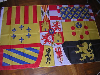 Reproduced Royal Standard of Spain Empire 1761-1931 Spanish Flag Ensign 3X5ft