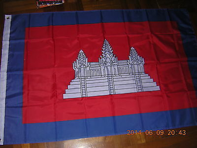 Reproduced Flag of Cambodia under French protection France Ensign 1867-1953 3X5