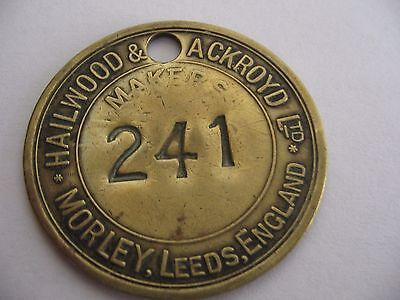 Pre 1947 Hailwood&ackroyd Ltd Colliery  Miners Lamp Tally Mining Pit Check Token