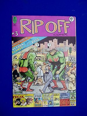 Rip Off Comiix 3 underground .  2nd print.  VFN. Shelton, Sheridan, Griffith