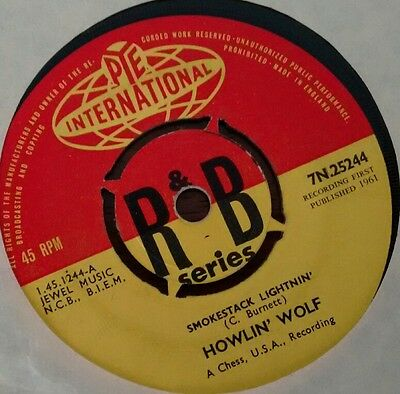 "Howlin Wolf: Smokestack Lightnin/Going down South (7"" Single, miss titled) 1961"