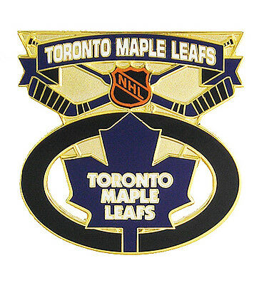 Toronto Maple Leafs NHL Face Off Logo Pin