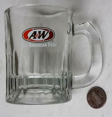 1970s Era A&W Root Beer glass baby root beer stein-All American Foods logo-COOL!
