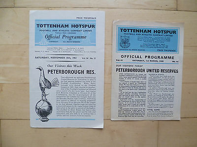 Spurs reserves v Peterborough reserves 1961 & 1969
