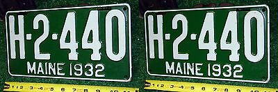 MAINE - 1932 TAXI license plates - EXCELLENT UNUSED - rare matched set