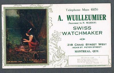 Original 1920's A. Wuilleumier Montreal Watchmaker Advertising Blotter