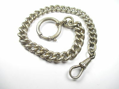 800 Silber Uhrenkette Vintage 30er - 50er Art Deco Ära silver watch chain iN1