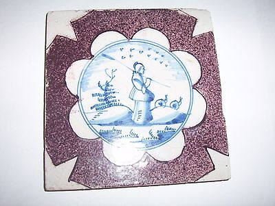 Delft Tile c. 18th / 19th  century   (6)