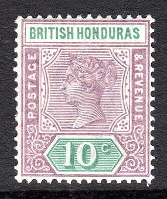 British Honduras QV 1891-1901  10c Dull Purple & Green SG58 LM/Mint