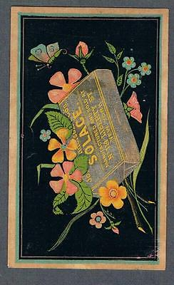 Original 1900's J. Anderson & Cie Solace Chewing Tobacco Advertising Trade Card