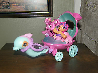 My Little Pony Dolphin and Sea Shell carriage set MLP