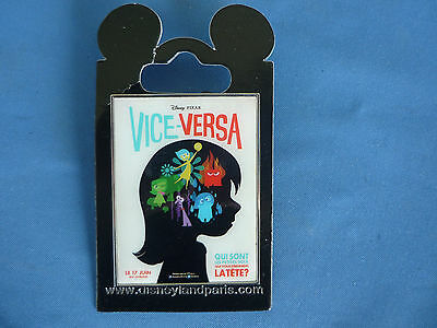 INSIDE OUT Disney Pin  VICE VERSA Paris Exclusive DLP   New on card
