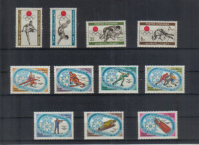 Afghanistan Two Sports sets unmounted mint