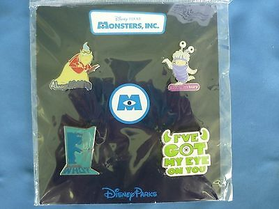 MONSTERS INC   Disney  Pin SET of 4  2014   BOO too   New Card