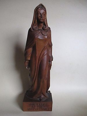 Carved Wooden Statue - Our Lady Of The Visitation