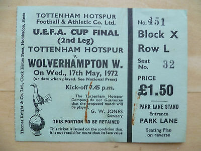 Tottenham Hotspur v Wolves 1972 UEFA Cup Final 2nd Leg