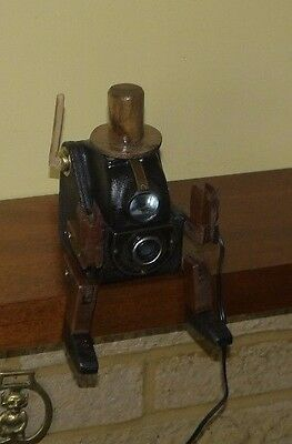 Steampunk Ensign Ful-Vue Camera Robot Light RECYCLED UPCYCLED