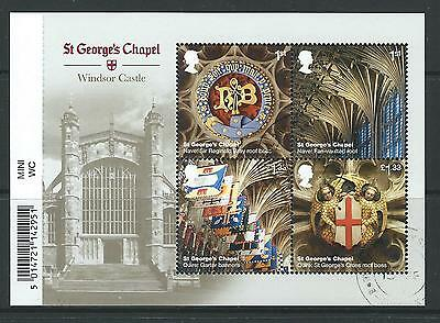 Great Britain 2017 Windsor Castle Miniature Sheet With Barcode Fine Used