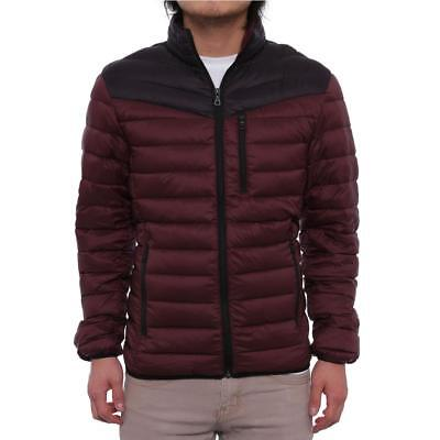 INC International Concepts Men Color-Blocked Zip Front Puffer Jacket